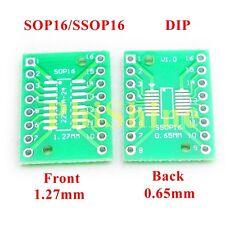 20pcs SOP16 SSOP16 TSSOP16 SMD to DIP Adapter Double Sides 0.65mm & 1.27mm