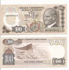 100 turkish lira note AU -EUROPE TURKEY 1970 WORLD MONEY NICE CURRENCY
