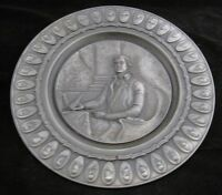 International Pewter #2231/7500 LE Collector Plate, THOMAS JEFFERSON