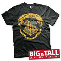 Official Licensed Harry Potter Hogwarts Crest Big & Tall T-Shirt 3XL, 4XL
