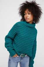 Free People Links Links Mock Neck Sweater Emerald Size XS/ Small  S Top NWT
