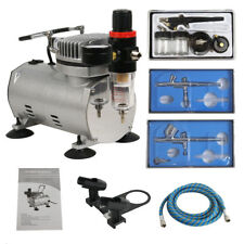 Segawe 0.2mm 0.3mm 0.8mm 3-Airbrush Air Compressor Kit for Hobby Model Painting