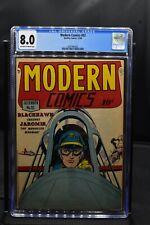 Modern Comics #92 CGC 8.0 Quality Comics 1949 Golden Age Blackhawk HIGH GRADE