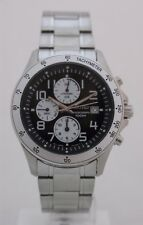 Seiko mens watches weekend chrono tachymeter black dial arabic numbers SNDA79