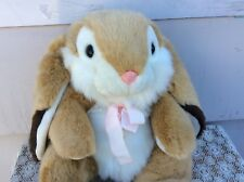 "1988 Chrisha Creation Playful Plush Vintage Long Ears 21"" Bunny Rabbit Tan"
