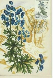 Card Postal CEF 1er Day France Flowers Of Mountains Aconite 1983