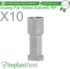10 Implant Analog For Nobel Biocare Active Hex Rp Dental Abutment