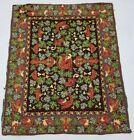 Vintage Handmade French Dragon Design Multicolor Wool Aubusson Rug 145x119cm