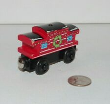 Thomas Friends Wooden Railway Train Tank Engine - Wreath Caboose - Christmas
