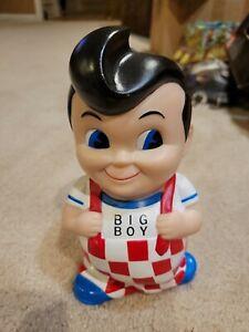 "Vintage Bob's BIG BOY Mascot Vinyl Doll Coin Bank NICE 7.5"""
