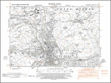 Bridgend, Coity, old map Glamorgan 1948: 40NE repro Wales