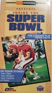 1995 NFL Inside The Super Bowl Football VHS Video Brand New Factory Sealed
