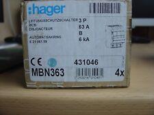 Hager Leitungsschutzschalter B 63A 3P 6kA neu
