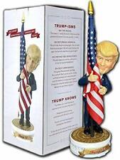 Donald Trump Bobblehead | (Trump Holding American Flag - Cloth Flag Included)...