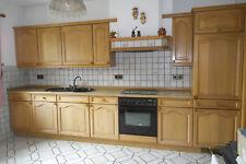 Küchenzeile Markenküche Nolte mit Miele-Geräten Fronten Eiche massiv 3,80 m