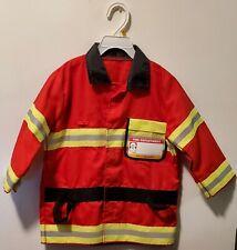 Firefighter Jacket fire chief Dress Up Halloween Costume children 3-6 Years
