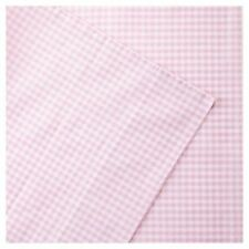 Mi-Zone Pink And White Plaid Full Gingham Cotton Sheet MZ20-0525