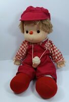 Vintage Ice Cream Doll Complete with Hat and Hanging Cone Red White Plaid Shirt