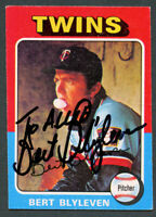 Bert Blyleven #30 signed autograph auto 1975 Topps Baseball Trading Card