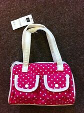 WHOLESALE JOB LOT 24 x KIDS GIRLS PINK POLKA CORD LITTLE BAGS PARTY GIVEAWAY