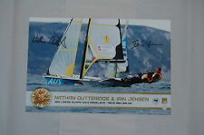 AUSTRALIANS 49ERS SAILING GOLDEN GLORY MENS 2012 OLYMPIC GAMES HAND SIGNED PHOTO