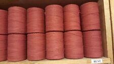 Rug Warp- Lot of 10 (1/2 lb ea.)- Cotton/Polyester Blend- Color Rust