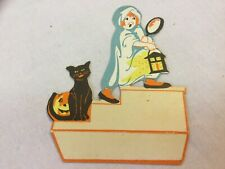 Whitney Place Card Child Stairs Mirror Candle Jol Cat Vintage Halloween Myth Fre