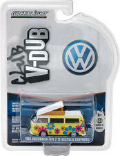GREENLIGHT 1968 VOLKSWAGEN T2 TYPE 2 CAMPMOBILE HIPPIE DIPPY 1/64 CAR 29860-D