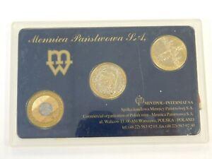 2000 Poland 2 Zlote 3-Coin Set in Plastic Holder