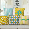 "18""*18"" Boho Stripe Bird Throw Sofa Bed Waist Decor Pillow Case Cushion Cover"