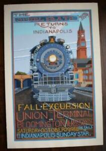 ONE-OF-A-KIND Indianapolis Indiana Nickel Plate Railroad Poster artwork-BEAUTY!