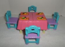 Dora The Explorer Dollhouse Kitchen Table & Four Chairs Expands For Cake