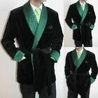Men Black Smoking Jacket With Belt Shawl Lapel Stylish Party Prom Wear Blazer