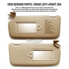 OEM Interior Hand Sun Visor Shade LH+RH Beige for HYUNDAI 2006-2010 Accent Verna