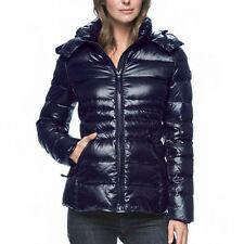 NEW Andrew Marc Women's Short Down Puffer Winter Jacket Dark Blue Indigo X-Small