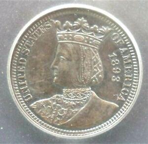 1893 Isabella Commemorative Quarter - !CG AU58 - #36377 FREE SHIPPING