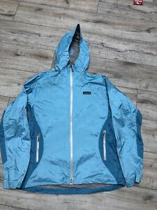 Patagonia Women's Torrentshell H2NO Hooded Waterproof Rain Blue Jacket Size L
