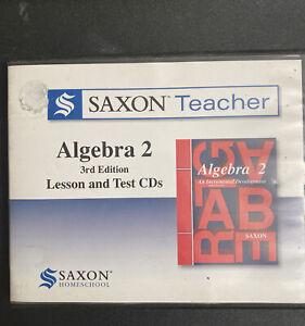 Saxon Teacher Algebra 2 (3rd Ed) Lesson & Test Cds