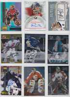 Goalie Auto Autograph Signature Cards NHL Hockey - Choose From List