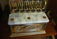 National Cash Register Model 5 scroll marble coin till brass NCR barber candy