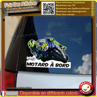 Stickers Autocollant motard à bord valentino rossi decal signature moto 46