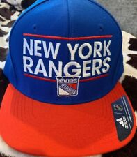 info for be4ae 0e4d2 New York Rangers Adidas Hat Cap New NWT Blue Red Adjustable Flat