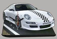 MODEL CARS,PORSCHE INDY 997 -01, car passenger,11,8x 7,8 inches  with Clock