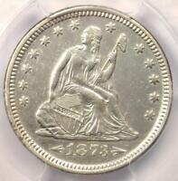 1873 Arrows Seated Liberty Quarter 25C - PCGS AU Details - Rare Type Coin!