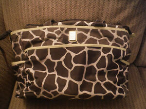 JUST ONE YOU CARTER'S Giraffe Pattern Brown/Green Large Size Diaper Bag