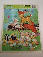 Vintage Walt Disney Golden BAMBI Frame Tray Jigsaw Puzzle Classic Forest Animals