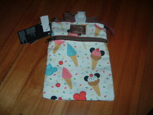 LOUNGEFLY DISNEY MICKEY MOUSE ICE CREAM CROSSBODY BAG~ WITH TAGS~ NEW~ STRAP~