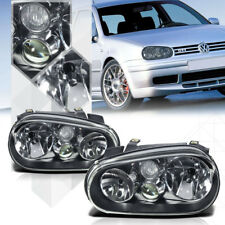 Black Housing Clear Lens Headlight Projector Fog Lamp for 99-06 VW Golf MK4 IV