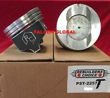 "Pontiac 428ci Pistons Set/8 + MOLY rings 1967 68 69 +.030"" Lemans GTO Firebird"