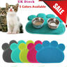 PAW STYLE Feed Placement Pet Dog Puppy Cat Feeding Mat Pad PVC Dish Bowl Food